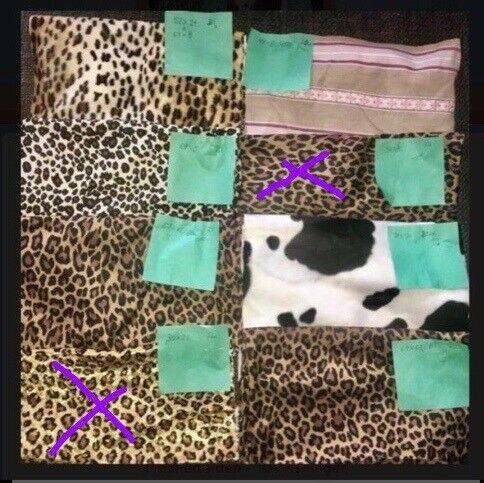 Stof, Bomuld dyreprint filt stof knapper lynlås
