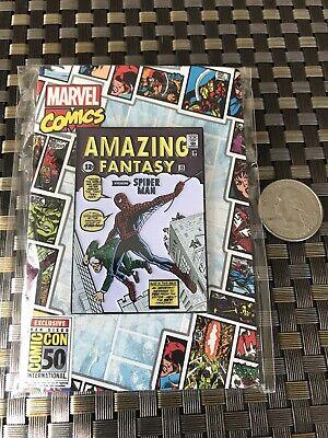 SDCC 2019 Marvel Amazing Fantasy Spider-Man Enamel Pin Comic EXCLUSIVE Brand New