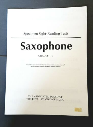 ABRSM Specimen Sight-Reading Tests Saxophone Grades 1-5