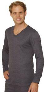 Octave-Hombre-Ropa-Interior-Termica-Manga-Larga-Camiseta-Con-Cuello-En-V-Calido