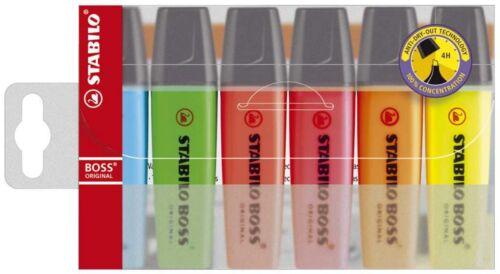 6er- Textmarker Original Stabilo Boss 4er- Etui Text-Marker 8er