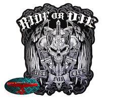 RIDE OR DIE Backpatch Aufnäher Aufbügler V2 Biker Chopper Rocker Harley 1% patch