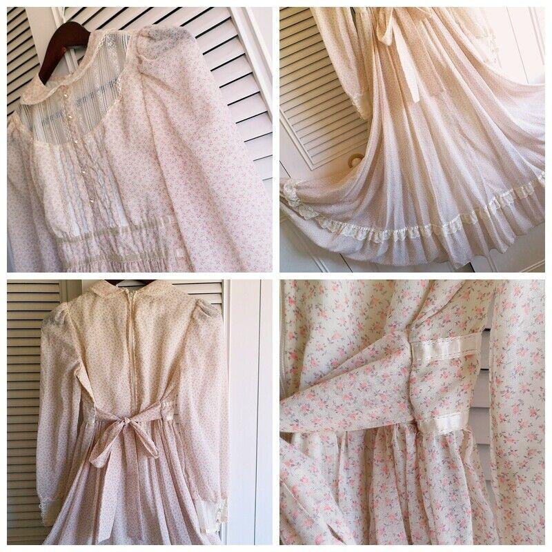 ASIS RARE vintage GUNNE SAX floral  Prairie dress… - image 9