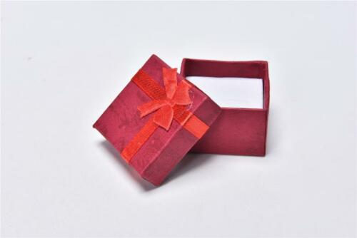 1//3x Jewellery Jewelry Gift Box Case For Ring Square Colorful CV CLBICA