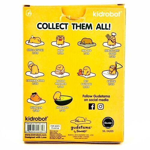 3//20 Gude Tan Gudetama Eggstra Lazy Kidrobot Enamel Pin Series