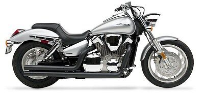 Radiant Cycles Shorty GP Exhaust for 2004-2009 Honda VTX1300C Chrome