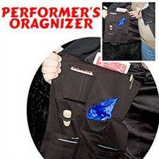 MAGICIANS JACKET ORGANIZER Pockets Magic Trick Performers Holder Black Coat Bag