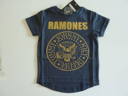 Ramones MAGLIETTA AZZURRA dal prossimo Età 5-6 anni Nuovo con etichette