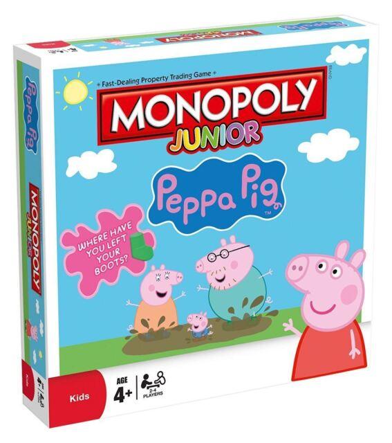 Monopoly Junior Peppa Pig Edicion Tablero Juego Por Winning Moves Ebay
