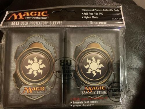 MTG Magic the gathering White Mana Fire 80 deck protector sleeves ultra pro
