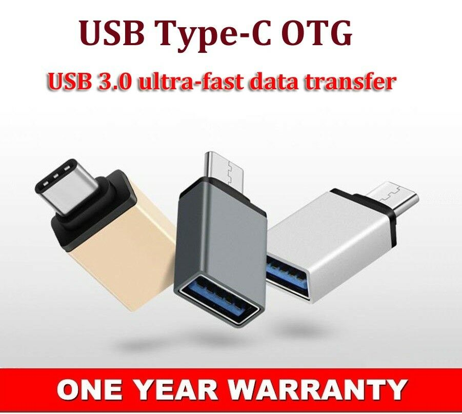 Type-C Male to USB3.0 Female Converter OTG Adapter For Oppo A93 A32 A33(2020) AU