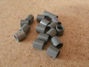 LEGO-City-Star-Wars-17-x-Gris-Grey-Technic-Pin-Connector-Round-2-3-L-Neuf