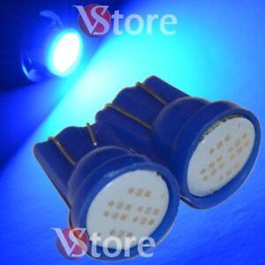 2-Lampade-Led-T10-COB-6-Chip-Luci-Blu-Xenon-Posizione-Targa-Interni-Auto-12V