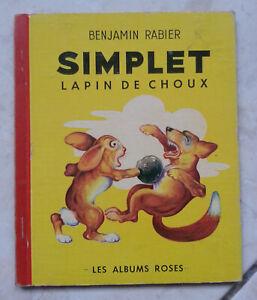 Benjamin-RABIER-SIMPLET-Lapin-de-Choux-Les-Albums-Roses-1952-EO-BE