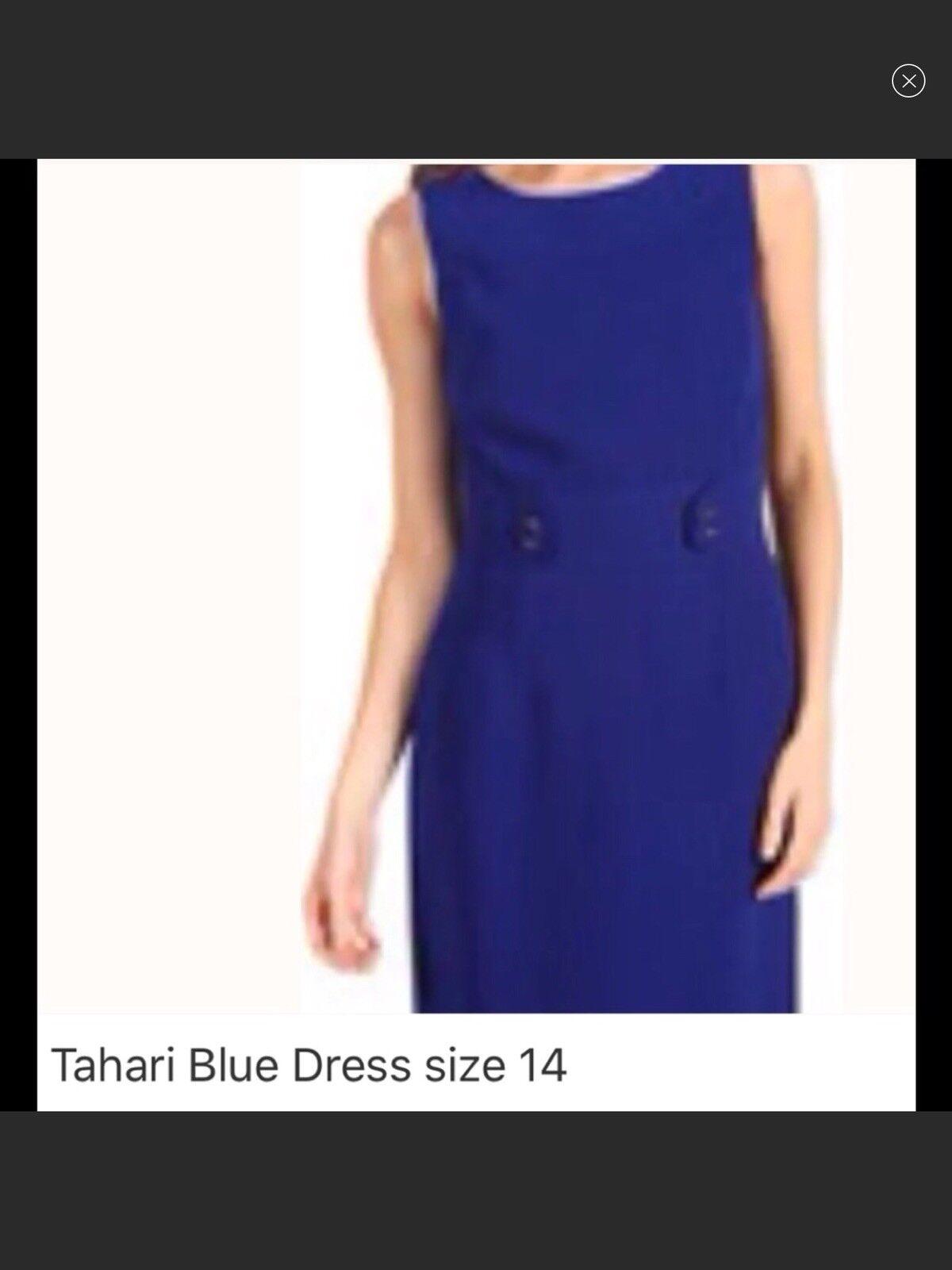 Tahari bluee Dress Size 12 & 14