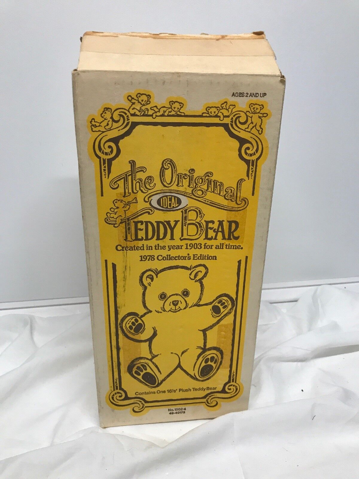 The Original (Ideal) Teddy Bear  1978 Collectors Edition In Rare Box