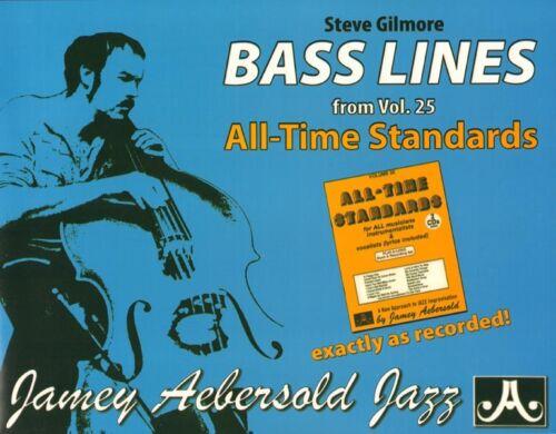 Jamey Aebersold Jazz Play-Along 025 25 All Time Standards Bass Lines Noten