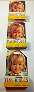 Sylvania FlashCubes Flash Cubes 3- Pack (9 Total Flashes) New Old Stock Lot (3)