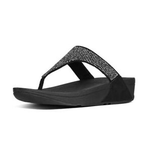 9e17810dfe0 Details about FitFlop Womens Slinky Rokkit Crystal Toe Post Sandals