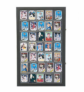 Baseball-Card-Display-Sports-Wall-Mount-Cabinet-Tradecard-Merchandiser-Showcase
