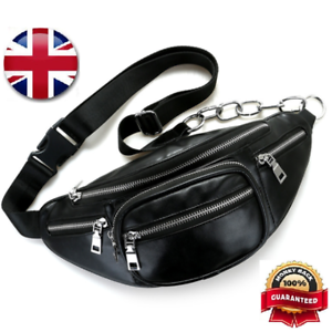 Ultra-Stylish-Leather-Travel-Bum-Bag-Shoulder-bag-Waist-Pack-Pouch-Chain-Strap