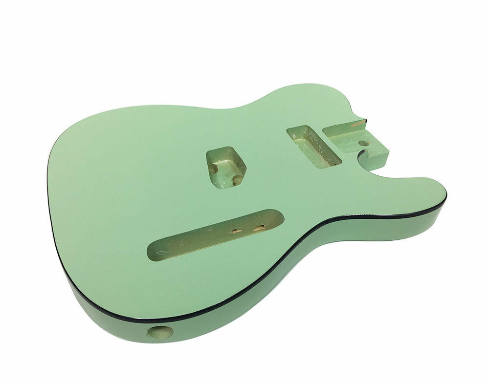 Solo TC Style Finished Guitar Body, Surf Grün