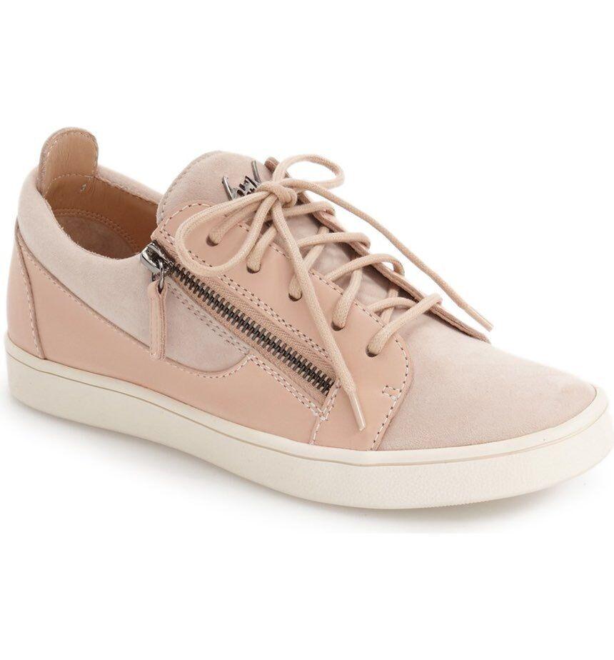 Giuseppe Zanotti Light Pink Beige Leather Low Top Sneaker Women Women Women 39.5 9  595 fac516
