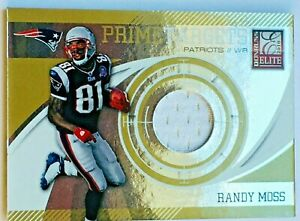 New Listing Randy Moss *GAME JERSEY #/ 299* 2010 Elite New England Patriots Football Card