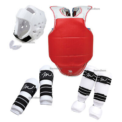 Taekwondo Sparring Gear set KID's 7 PC Complete Deluxe Karate Protectors  Guards | eBay