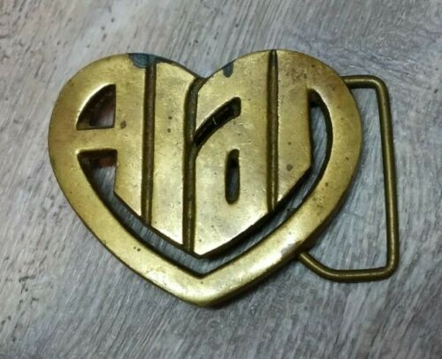 Solid Brass 1970s Road Bicycle Cyclist Vintage Belt Buckle