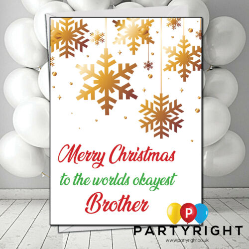 Personalised Rude Funny Joke Okayest Brother Christmas Card