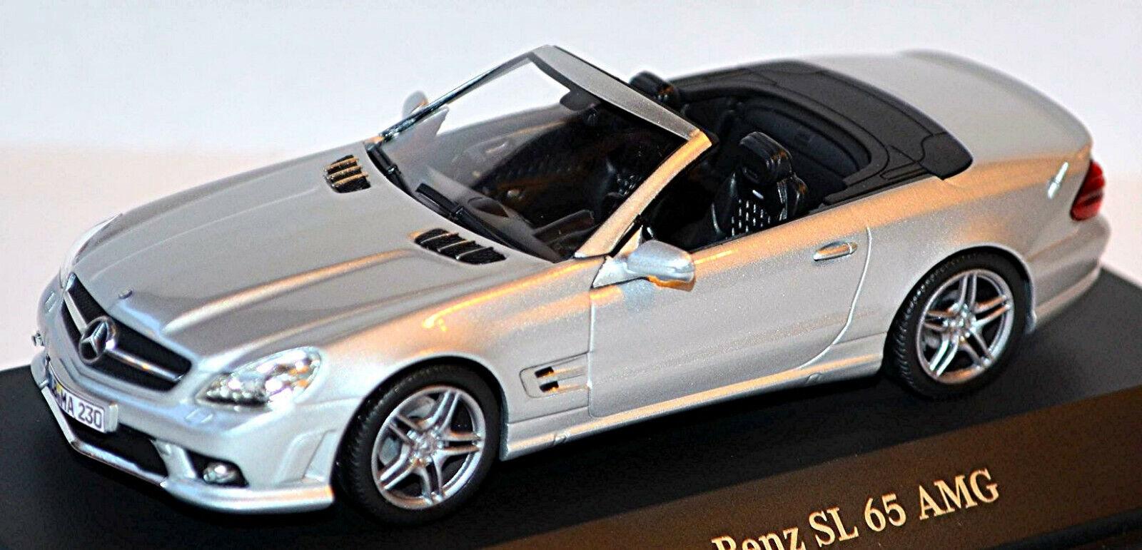 marcas de diseñadores baratos Mercedes Mercedes Mercedes Benz Sl 65 AMG R 230 Roadster 2008-11 Plata Metal 1 43 Minicham  marca