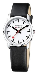 Image is loading MONDAINE-Swiss-Railways-Watch-Simply-Elegant-36mm-Polished- 099063c3c27a
