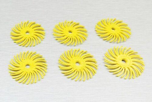 "Radial Bristle Discs 3M Yellow 80 Grit 1/"" Bristle Brush Pack of 6 Discs"