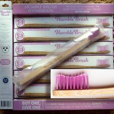 Humble Brush Zahnbürste Lila soft mit Bambus-Griff, Nachhaltig, 100% recyclebar