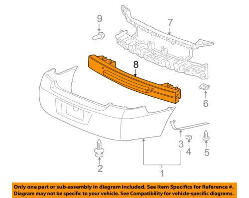 Chevrolet GM OEM Impala Rear Bumper-Impact Reinforcement Bar Rebar 25865729