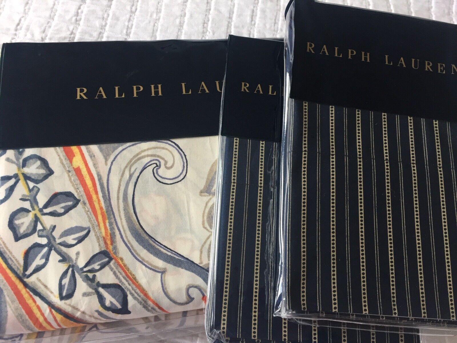 RALPH LAUREN RUE VANEAU TRAVIS CREAM DUVET COVER SET SUPERKING