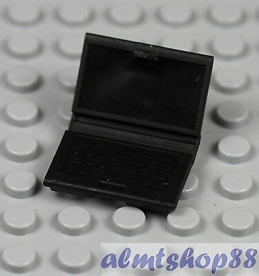 Black Laptop Notebook Computer LEGO Minifigure Accessory Utensil Macbook