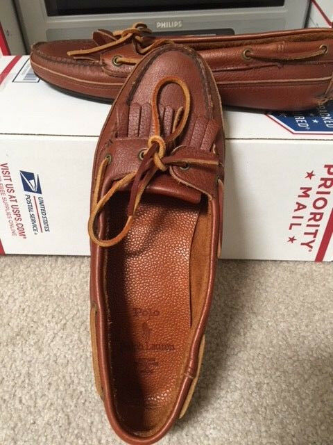 Ralph Lauren Polo Brown leather moccasin