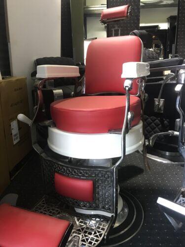 Barber Chair  round Seat USA Sedia Barbiere ( Belmont, Koken, Paidar,Climazon)
