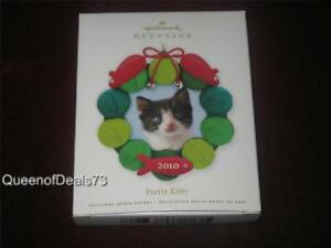 Hallmark 2010 Pretty Kitty Cat  Photo Holder Ornament