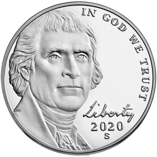 2020 S Proof Jefferson Nickel 5c Gem Deep Cameo from US Mint Set