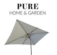 Sonnenschirm 2 x 3 m Kurbelschirm Gartenschirm Balkonschirm knickbar Alu natur P