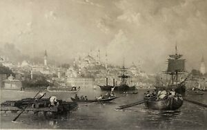 Turkey-View-of-the-Port-at-Istanbul-Constantinople-Turkiye