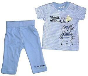 Teiler Set  Shirt Hose Jogging Nicki Neu Jungen 56 62 68 blue seven Baby 2