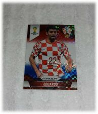 2014 Panini Prizm World Cup Red Blue Plaid Eduardo - Croatia #119
