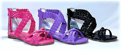 Toddler to Girls Gladiator Summer Sandals Sizes 7 to 12, Pageant Sandals
