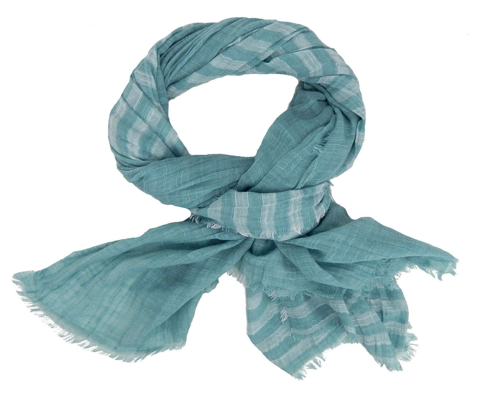 Men/'s Scarf Blue White by Ella Jonte Scarf Cotton Viscose Nautical New Season