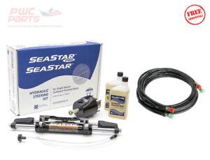 SeaStar HK6400A-3 1.7 Hydraulic Steering Kit w/ 20' Hoses HO5120 Mercury Yamaha