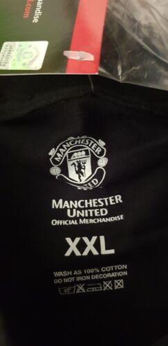 MAN Utd Cotone T-shirt Manchester United Ufficiale top shirt UK M XXL BB